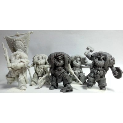 Space Vikings set of 5 Great Wolf Lords of Asgard